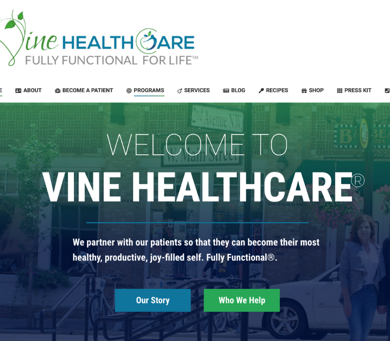 Vine Healthcare Web Copy